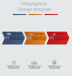 Infographics with arrows elements and icons vector image