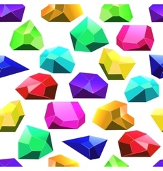 Multicolor crystals seamless pattern vector
