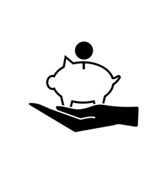 Piggy money bank icon vector