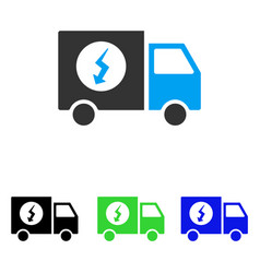 Power supply van flat icon vector