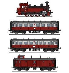 Retro steam train vector