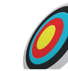 Round colour darts target aim vector