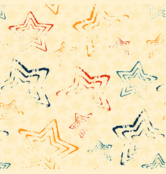 seamless pattern with doodle stars vector image