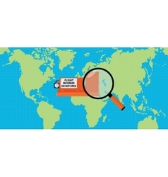 Searching flight recorder black box with map as vector