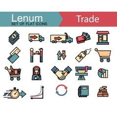 Set of thin line icons on trade theme 20 icons vector image vector image