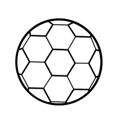 Silhouette soccer ball toy icon vector
