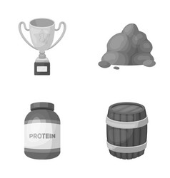 Sport medicine and other monochrome icon in vector