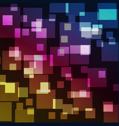 Squares bokeh with colorful abstract background vector