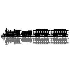 Vintage american steam train vector image