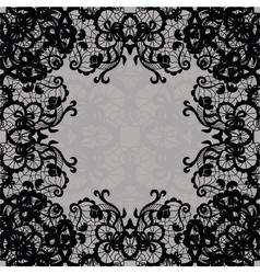 Vintage lace invitation card vector image