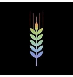 Watercolor wheat icon vector