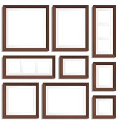 Wenge frames set vector