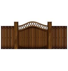 Wooden fence and doorway vector