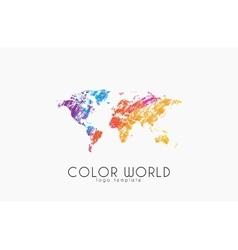 World map logo World logo Color world Creative vector image vector image