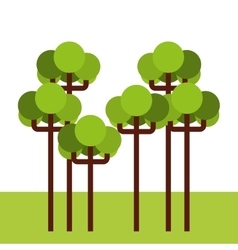 Tree forest landscape icon vector