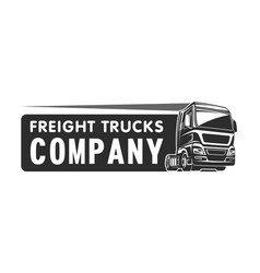truck cargo freight company logo template vector image
