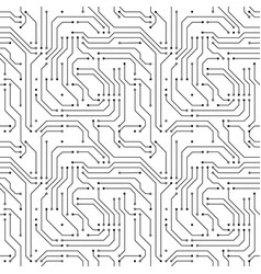 computer microchip seamless pattern on white vector image