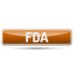 Fda - abstract beautiful button with text vector
