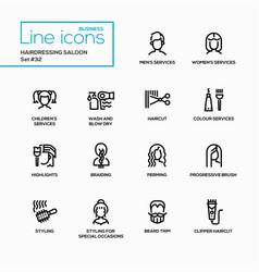 Hairdressing saloon - modern single line vector