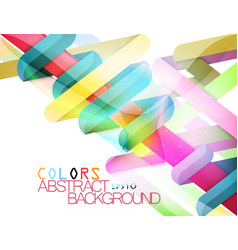 Glossy shape colors modern style vector