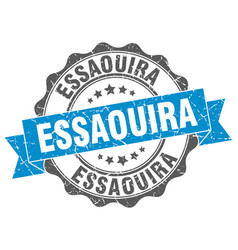 Essaouira round ribbon seal vector