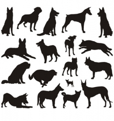 Dog silhouettes vector