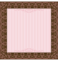Square pink background with decorative ornate vector