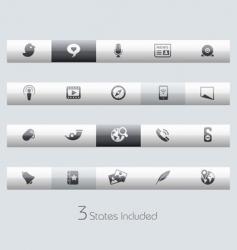 Social media bars vector