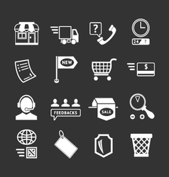 Set icons of shopping and e-commerce vector image