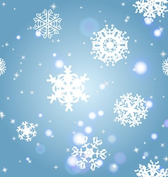Snowflakes winter seamless texture endless pattern vector