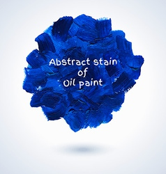 Round stain of oil paint vector