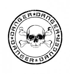 danger stamp vector image