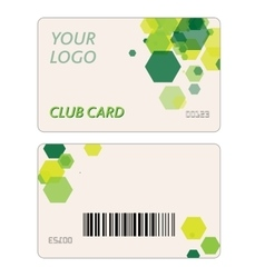 Plastic gift cards vector