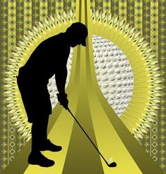 Golfer vintage design vector