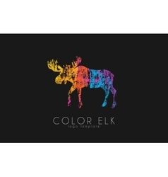 Elk logo color elk design creative logo vector