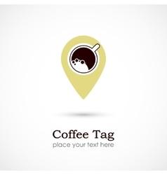 Coffee Tag vector image