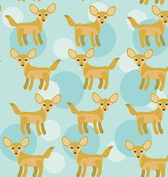 Africa fennec fox seamless pattern with funny cute vector