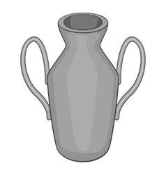 Ancient vase icon gray monochrome style vector image