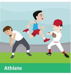 athletic sport cartoon set vector image vector image