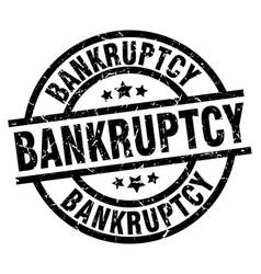 Bankruptcy round grunge black stamp vector