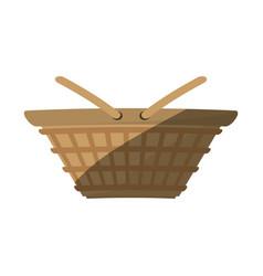 Basket picnic food shadow vector