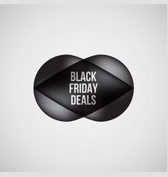 black friday deals bubble badge vector image vector image