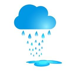 Blue Rain Cloud vector image