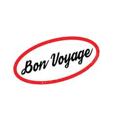 Bon voyage rubber stamp vector