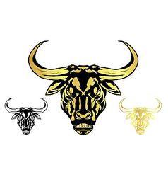 bull head vector image