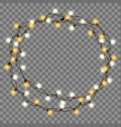 Christmas tree string garland vector