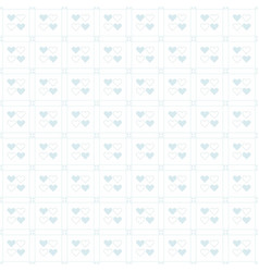 Cute baby blue heart pattern on white background vector