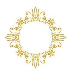 Elegant luxury vintage gold floral frame vector
