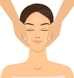 Face massage vector