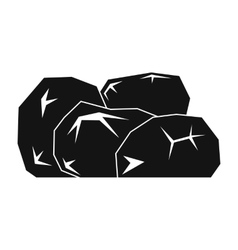 Gold nuggets black simple icon vector